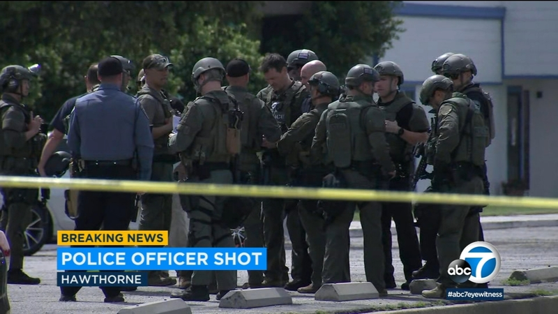 Hawthorne shootout leaves officer and suspect wounded