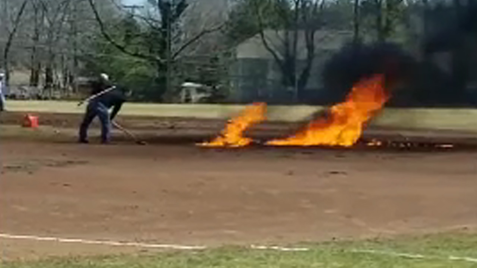 Connecticut Baseball Field Doused In Gasoline Set On Fire In Effort To Dry Field Abc11 Raleigh Durham