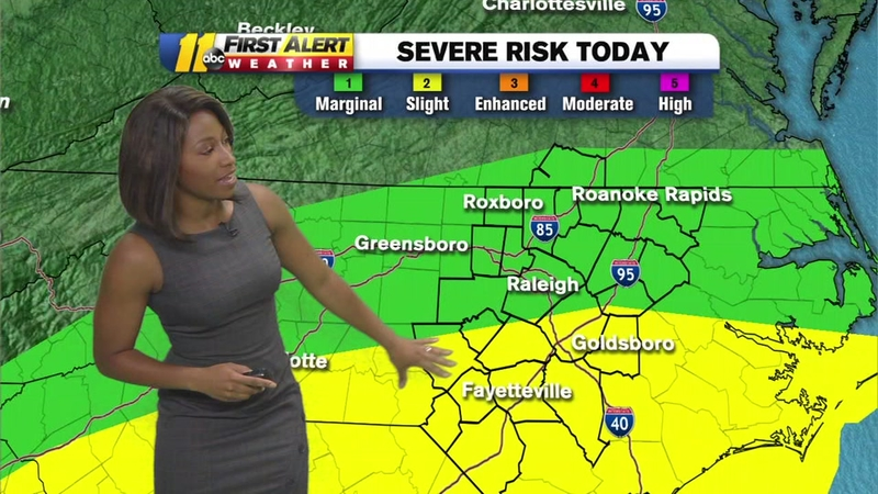 NC weather: Severe storms possible in Raleigh, Durham, Fayetteville