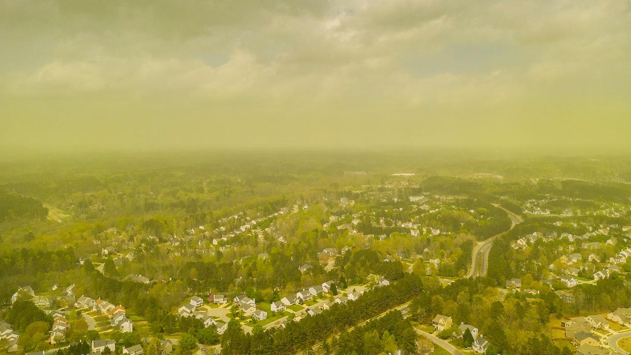 NC pollen: Photographer captures 'pollenpocalypse' over