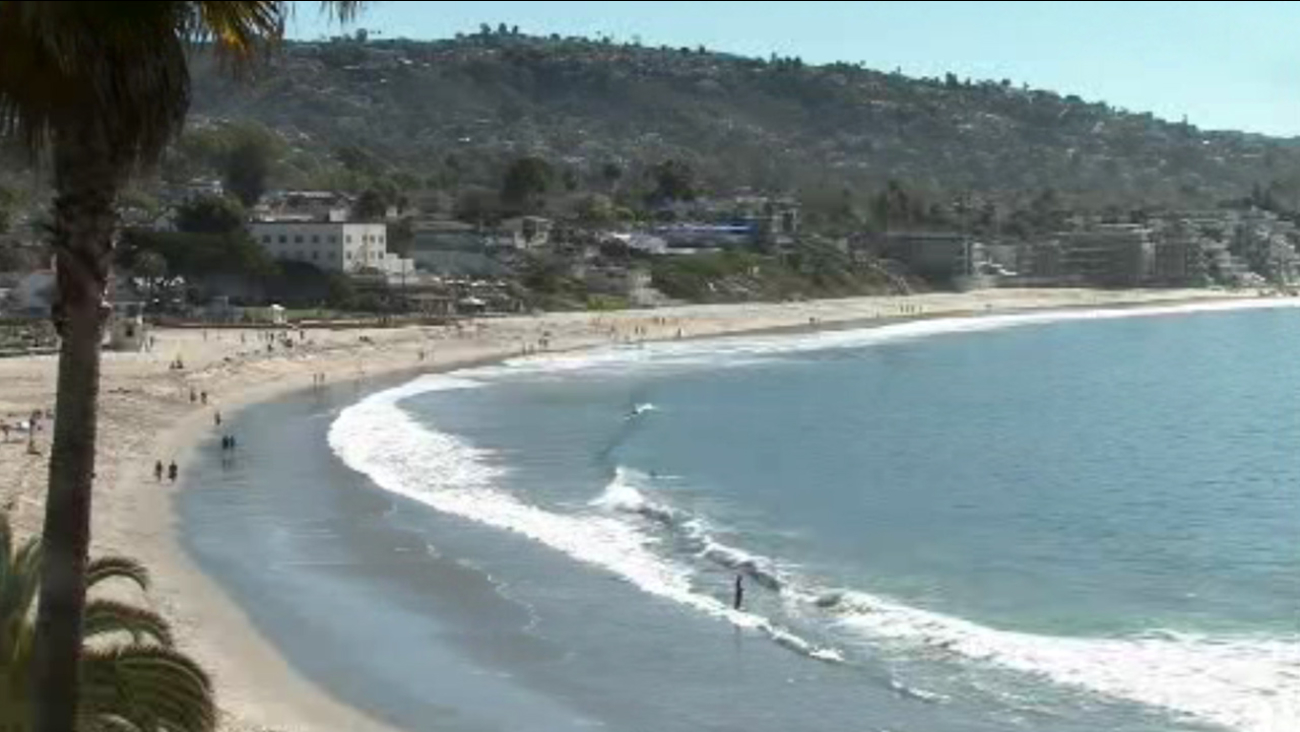 Thousand Steps Beach in Laguna Beach is shown in this undated file photo.