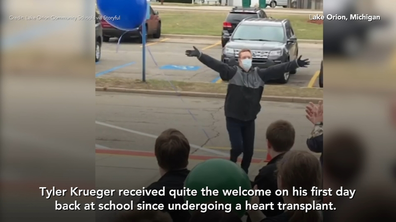 Student receives warm welcome after heart transplant