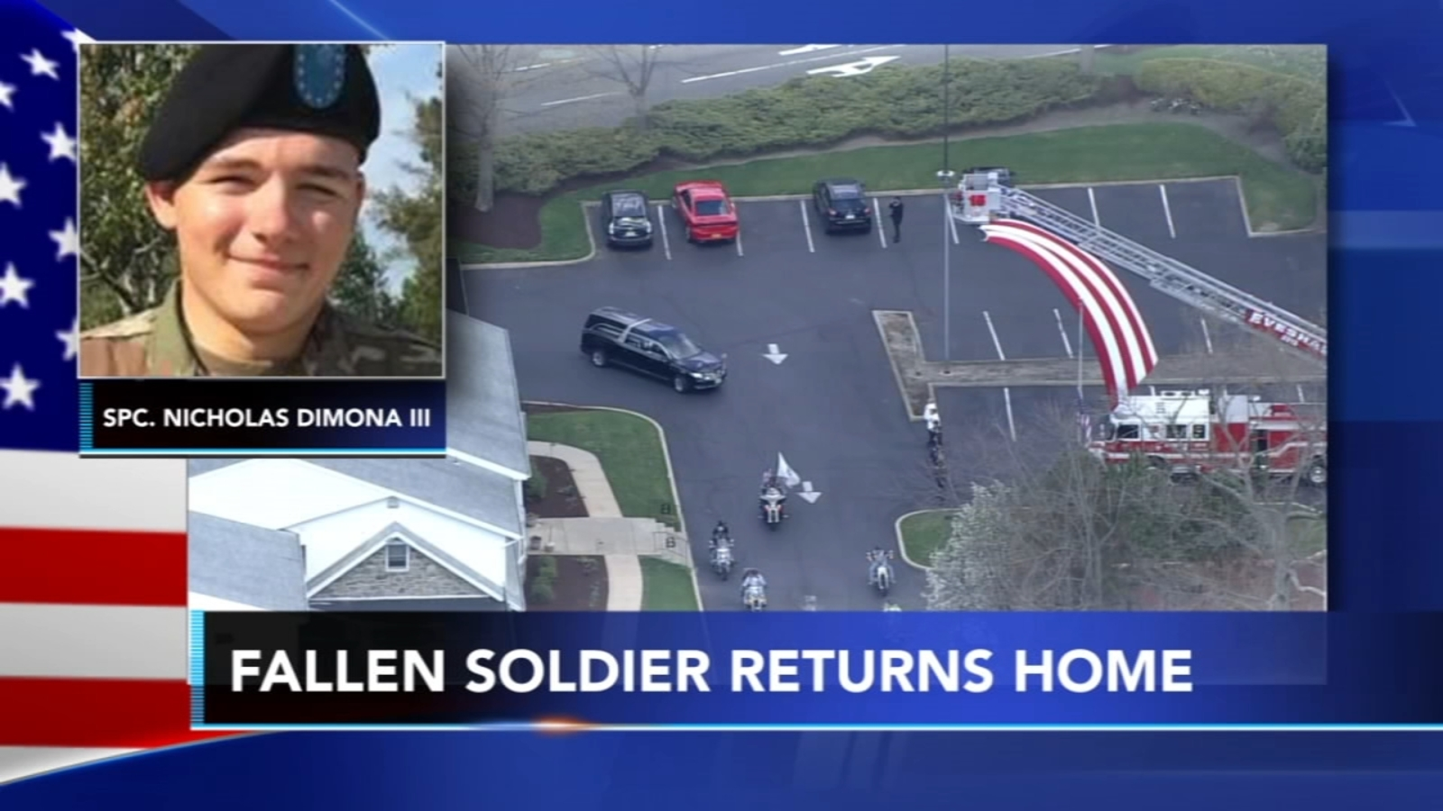 New Jersey soldier killed in training exercise receives flag escort home