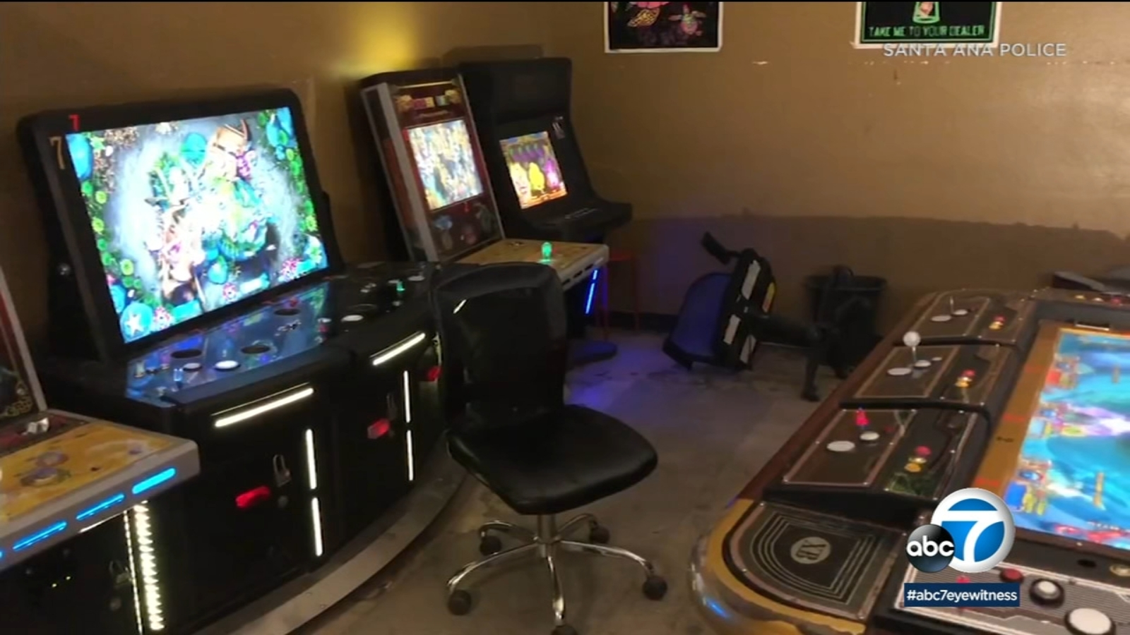 Santa Ana Police Bust Business Accused Of Illegal Gambling Abc7 Los Angeles