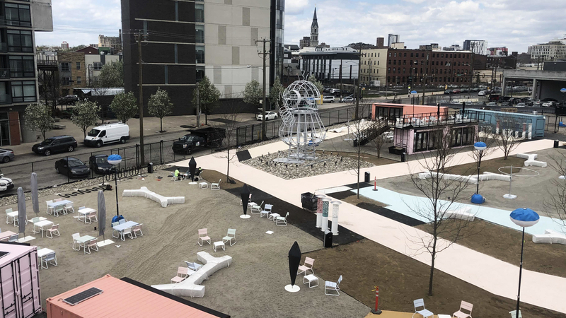 New Northern Liberties Pod Park At Piazza To Feature Play Area Al Fresco Dining