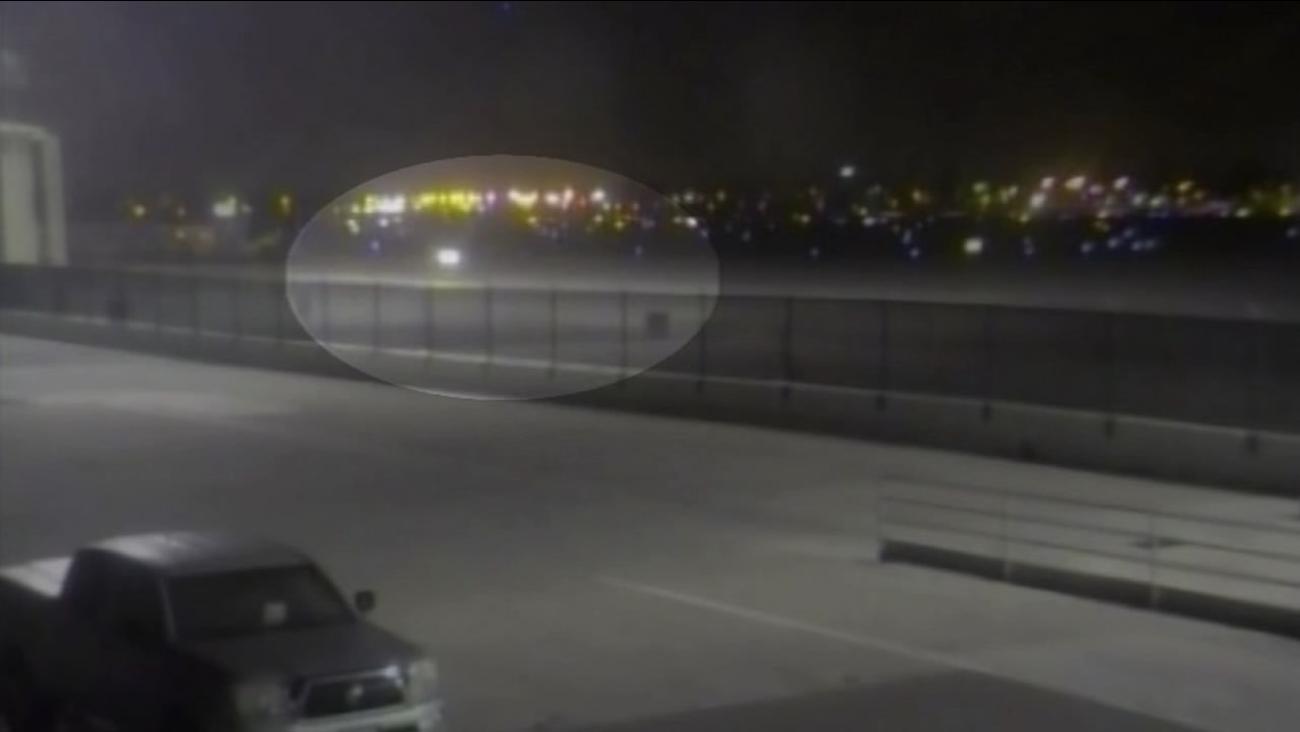 headlights near airport
