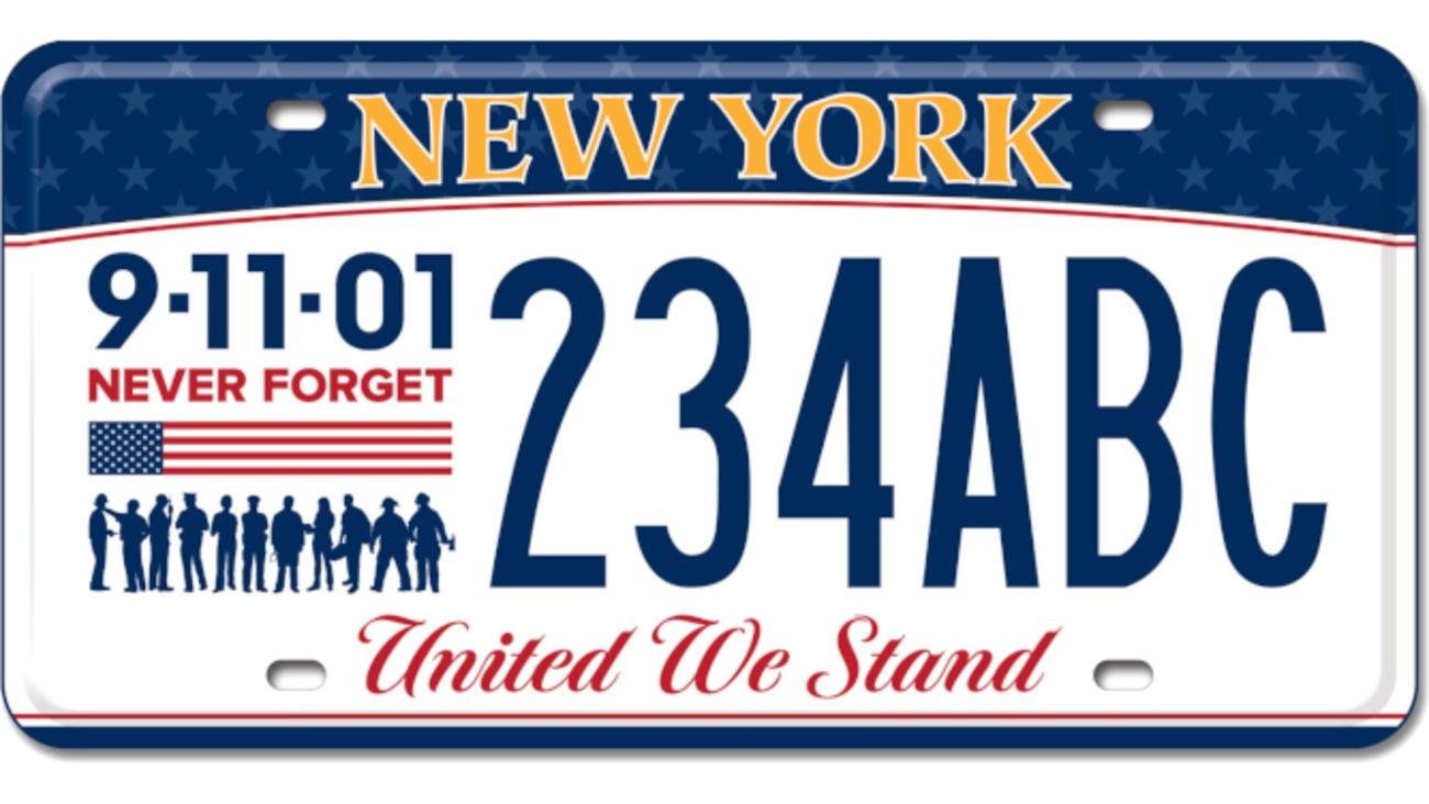 New York DMV debuts 9/11 remembrance license plates | abc7ny com