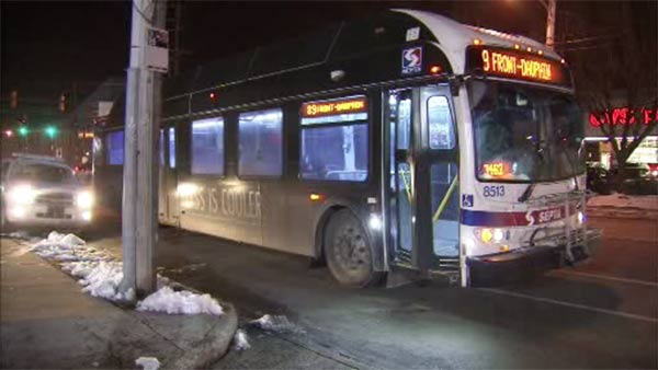 SEPTA bus and vehicle collide in Juniata Park