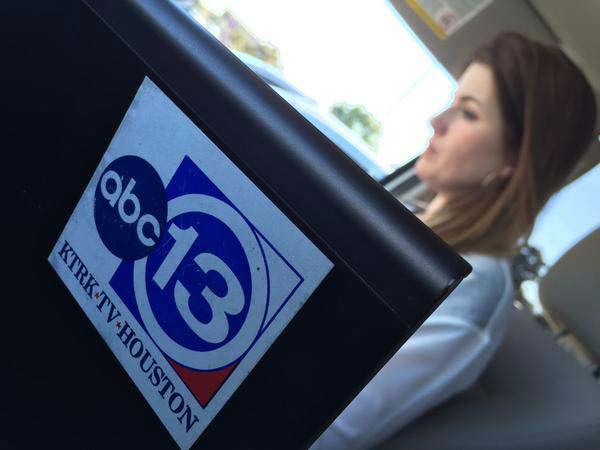 "<div class=""meta image-caption""><div class=""origin-logo origin-image none""><span>none</span></div><span class=""caption-text"">Natasha Barrett writing her package in the live truck (KTRK Photo)</span></div>"