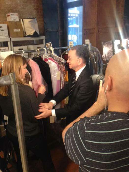 "<div class=""meta image-caption""><div class=""origin-logo origin-image none""><span>none</span></div><span class=""caption-text"">Rebecca Spera interviewing a costume designer in NYC (KTRK Photo)</span></div>"