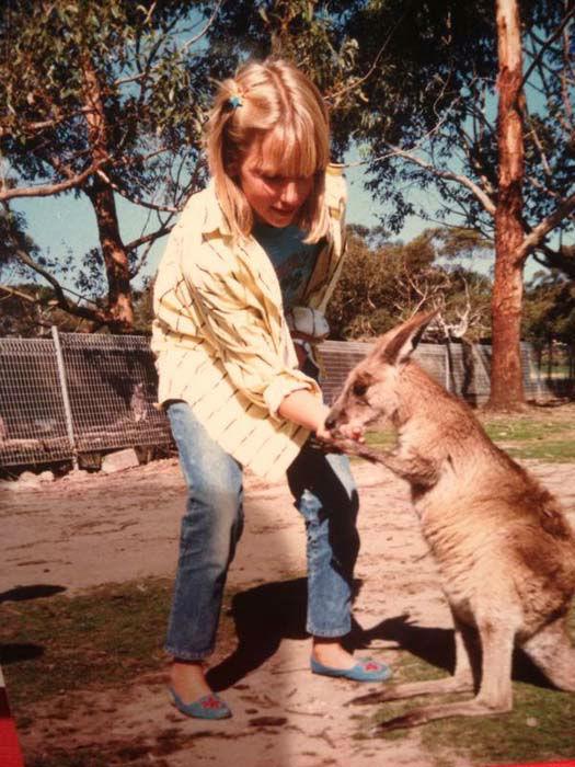 <div class='meta'><div class='origin-logo' data-origin='none'></div><span class='caption-text' data-credit='KTRK Photo'>Ilona Carson with a kangaroo!</span></div>