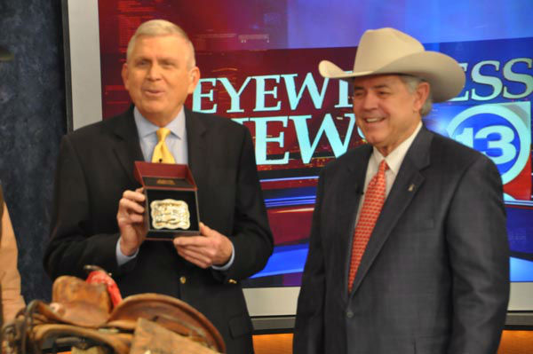 "<div class=""meta image-caption""><div class=""origin-logo origin-image none""><span>none</span></div><span class=""caption-text"">Houston Livestock Show and Rodeo chairman of the board Jack A. Lyons presented Don Nelson with a special belt buckle for all he's done for the event over the years (KTRK Photo)</span></div>"