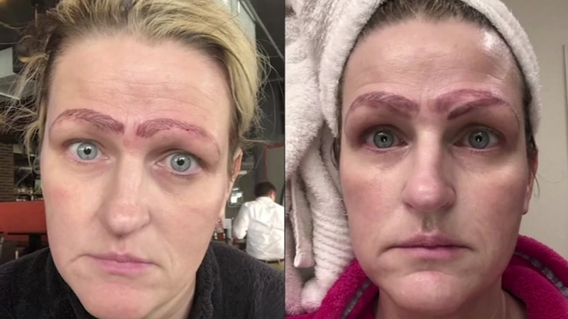 Botched microblading procedure leaves woman with four eyebrows