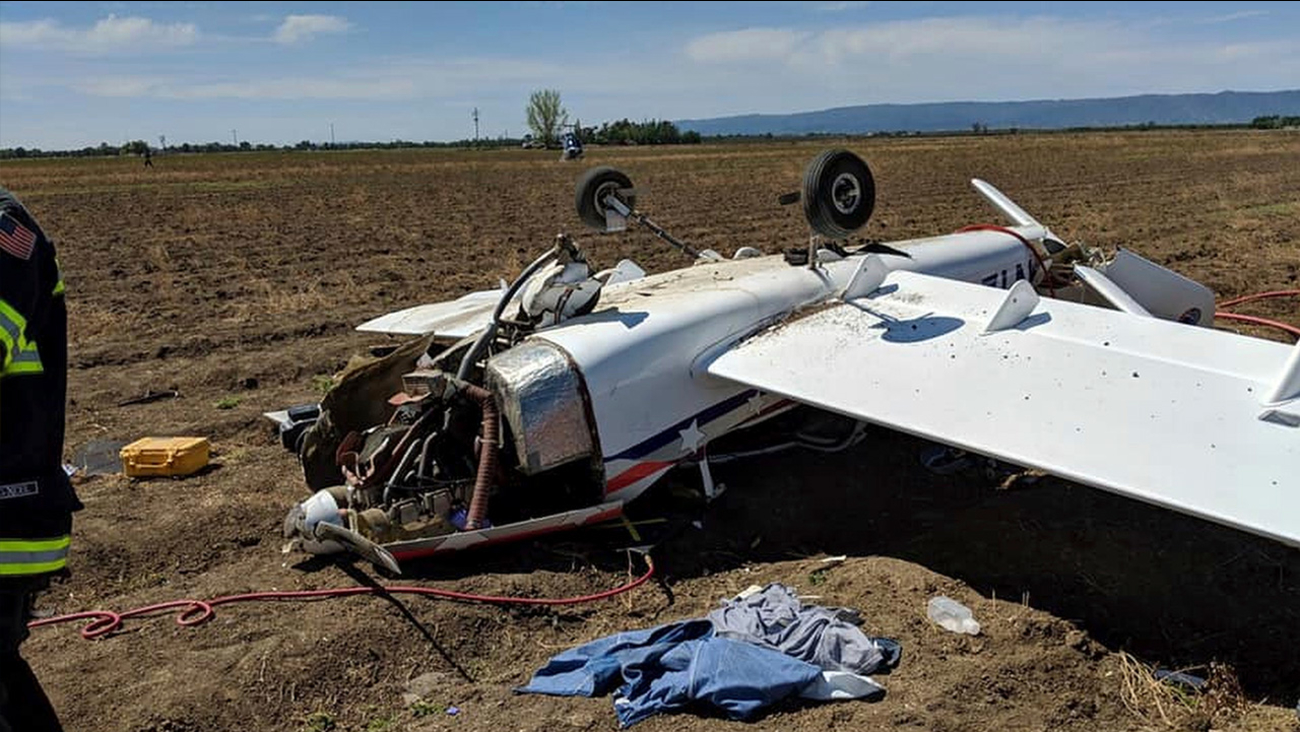 1 taken to hospital after small plane crash in California