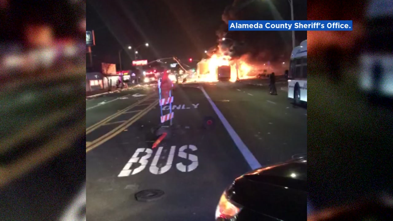 Police cracking down after semi-truck looted, burned during