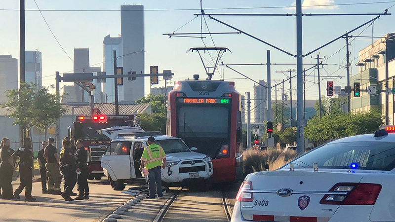 Person wheeled away from METRORail crash in East End