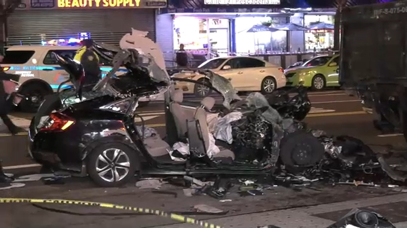 Police investigate deadly double crash in Washington Heights