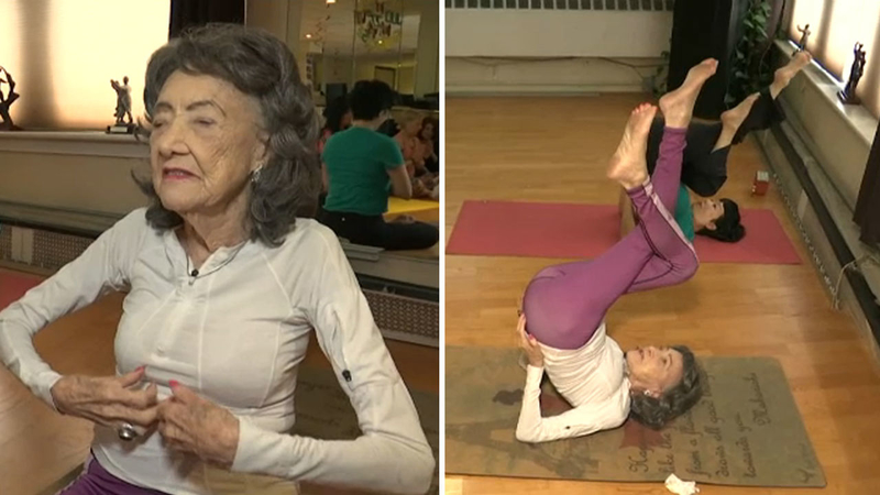 100 Year Old Yoga Instructor In Hartsdale Keeps Moving Dancing With No Intention Of Slowing Down Abc7 New York