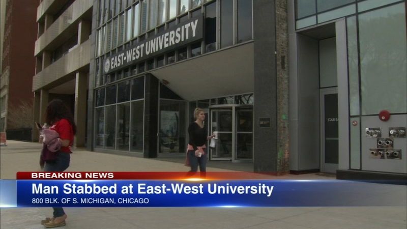 Man, 20, stabbed at East-West University in South Loop
