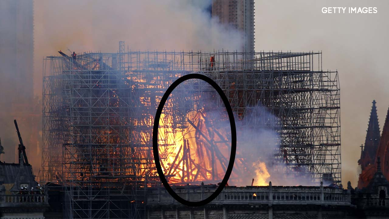 Some believe they see Jesus in Notre Dame