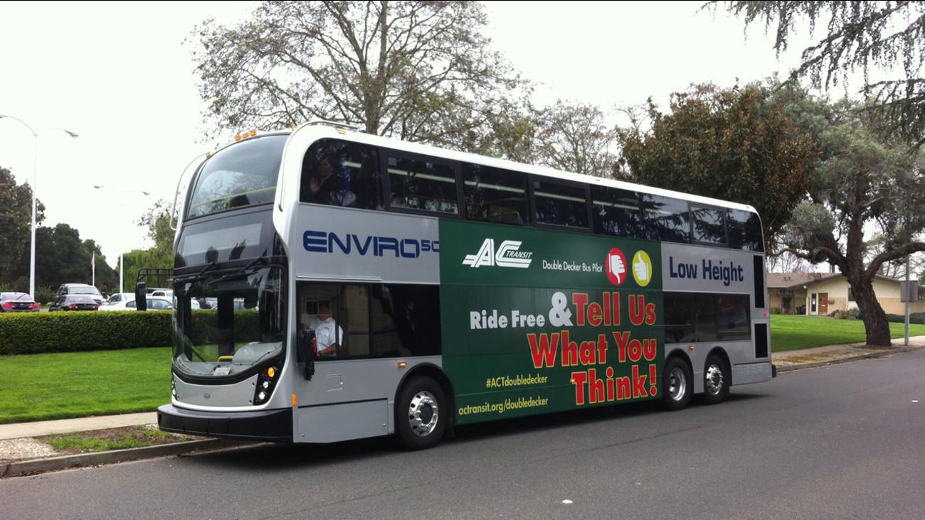 double decker AC Transit bus