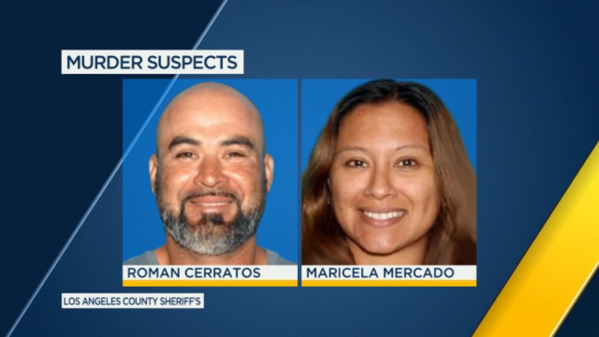 This is a photo of suspects Roman Cerratos and Maricela Mercado.