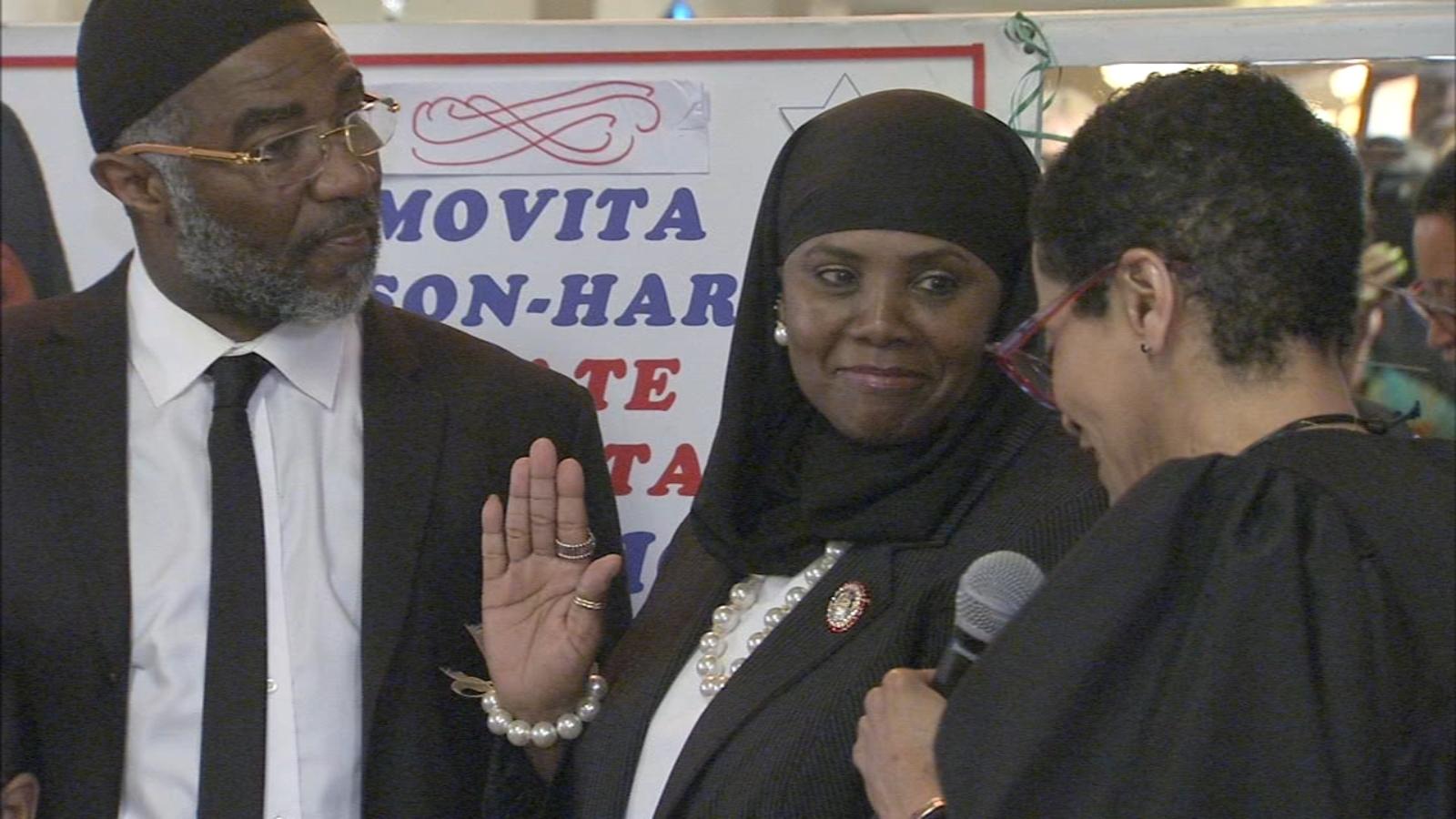 Movita Johnson-Harrell, first Muslim woman in Pa. House, sworn in locally