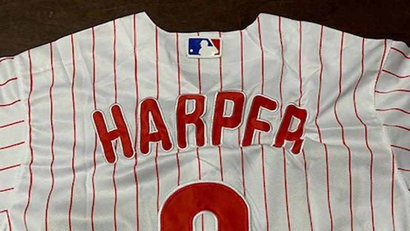 new styles 119ff c1f0a Hundreds of fake Bryce Harper jerseys seized in Philadelphia