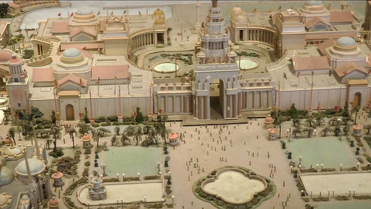 Model of the Panama-Pacific International Exposition in 1915 in San Francisco