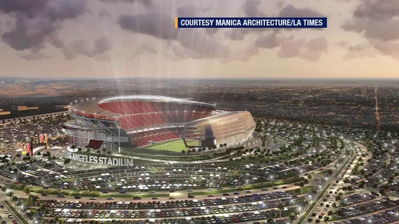 artist's rendering of new Los Angeles stadium plans
