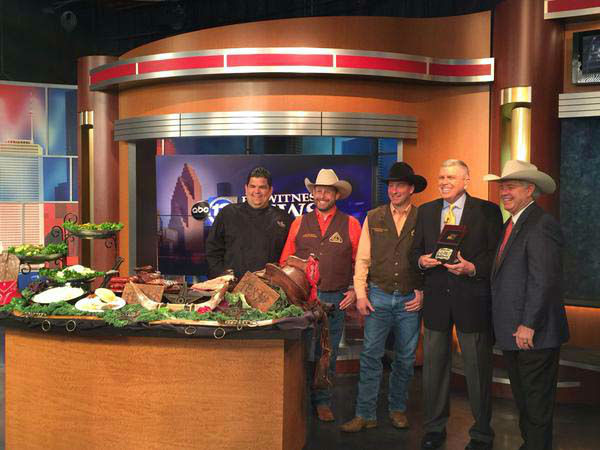 """<div class=""""meta image-caption""""><div class=""""origin-logo origin-image none""""><span>none</span></div><span class=""""caption-text"""">Rodeo Houston presented Don Nelson with a special belt buckle (KTRK Photo)</span></div>"""