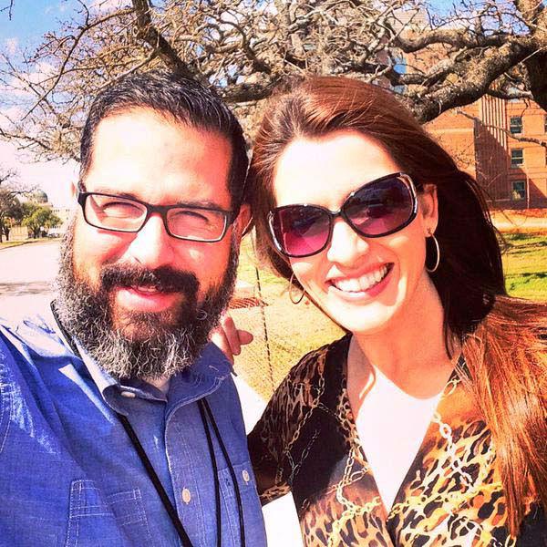 "<div class=""meta image-caption""><div class=""origin-logo origin-image none""><span>none</span></div><span class=""caption-text"">Natasha Barrett and photographer Francisco on the campus of Texas A&M (KTRK Photo)</span></div>"