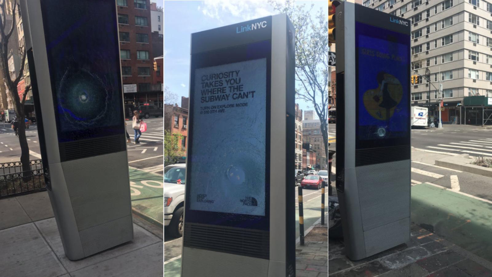 At least 30 LinkNYC kiosks vandalized in Manhattan