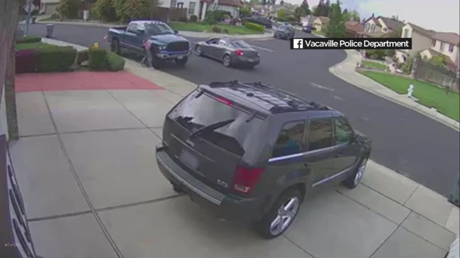 Disturbing surveillance video shows Vacaville girl being followed by stranger