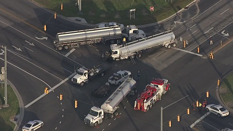 2 hurt after tanker truck crashes in Selma