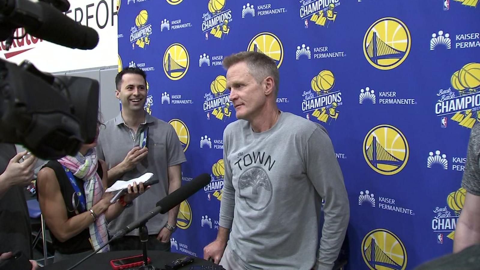 Warriors' Draymond Green won't turn music down for Coach Kerr