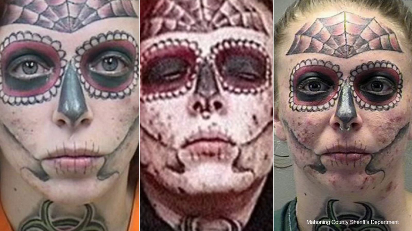 Ohio woman with distinctive tattoos arrested for 3rd time in 6 months