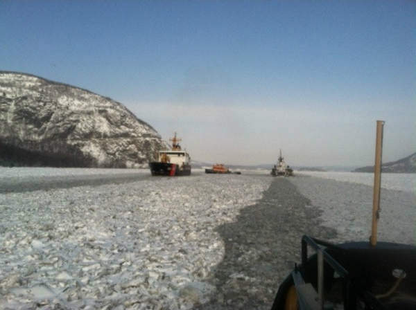 "<div class=""meta image-caption""><div class=""origin-logo origin-image none""><span>none</span></div><span class=""caption-text"">On Wednesday, two U.S. Coast Guard cutters helped an oil barge break free of thick ice on the Hudson River at West Point. (Photo/U.S. Coast Guard)</span></div>"