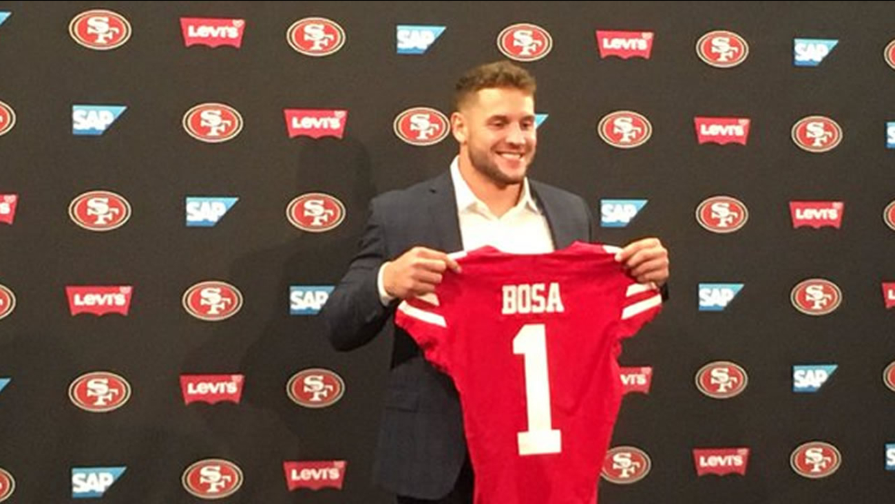 e9212665630 NFL Draft  San Francisco 49ers introduce newest team members ...
