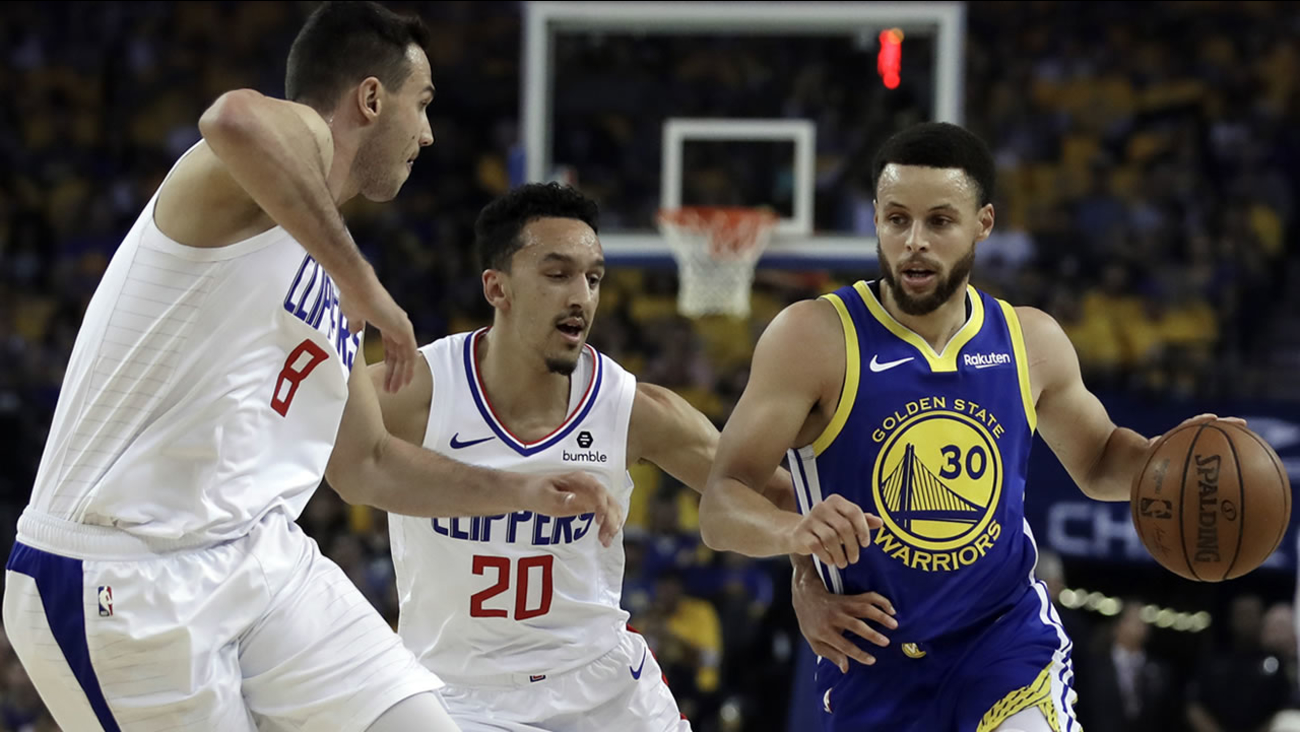 d4c5097f379 Warriors beat Clippers 129-110