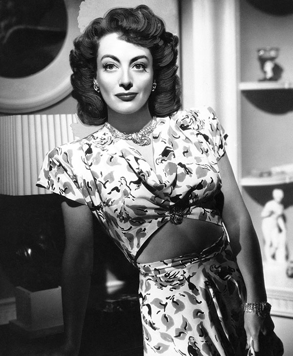 <div class='meta'><div class='origin-logo' data-origin='AP'></div><span class='caption-text' data-credit=''>In this August 10, 1946 file photo, actress, Joan Crawford, is seen as she appeared in &#34;Mildred Pierce.&#34;</span></div>