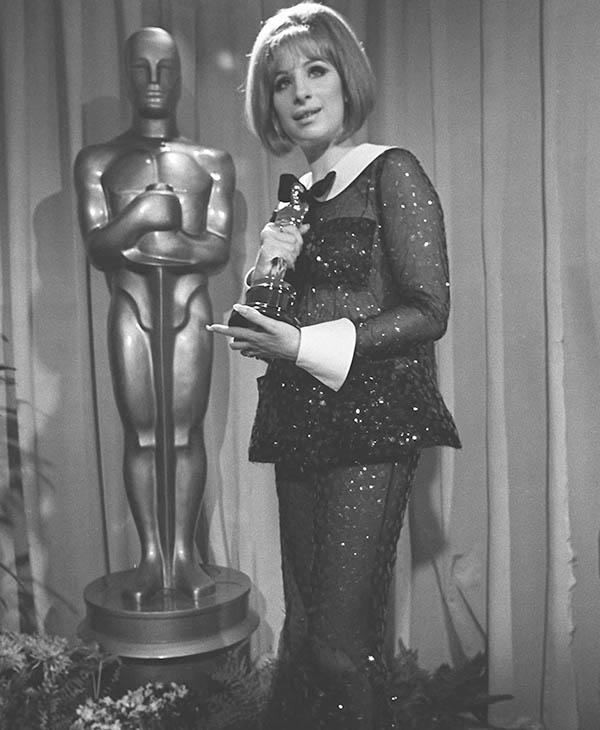 <div class='meta'><div class='origin-logo' data-origin='AP'></div><span class='caption-text' data-credit=''>Barbra Streisand wins an Oscar for her performance in &#34;Funny Girl&#34; April 14, 1969 in Hollywood, Calif.</span></div>