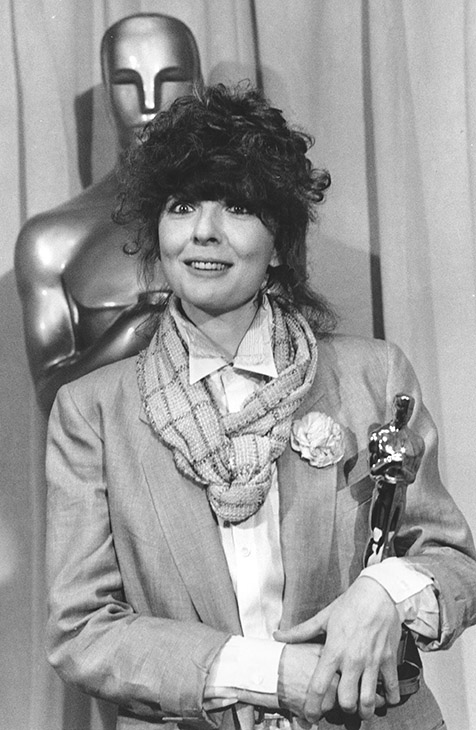 <div class='meta'><div class='origin-logo' data-origin='AP'></div><span class='caption-text' data-credit=''>Actress Diane Keaton poses with her Oscar statuette at the 50th Annual Academy Awards in Los Angeles, Ca. on April 3, 1978.</span></div>