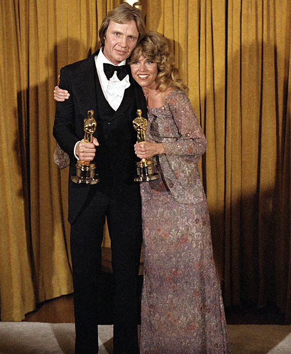 <div class='meta'><div class='origin-logo' data-origin='AP'></div><span class='caption-text' data-credit=''>Actor Jon Voight, left, and actress Jane Fonda pose with their Oscars in Los Angeles, April 9, 1979, awarded for their roles in &#34;Coming Home&#34; at the 51st Academy Awards.</span></div>