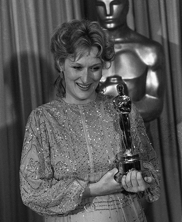 <div class='meta'><div class='origin-logo' data-origin='AP'></div><span class='caption-text' data-credit=''>Actress Meryl Streep after receiving the best actress award for her performance in &#34;Sophies Choice during the 55th Annual Academy Awards in Los Angeles.</span></div>