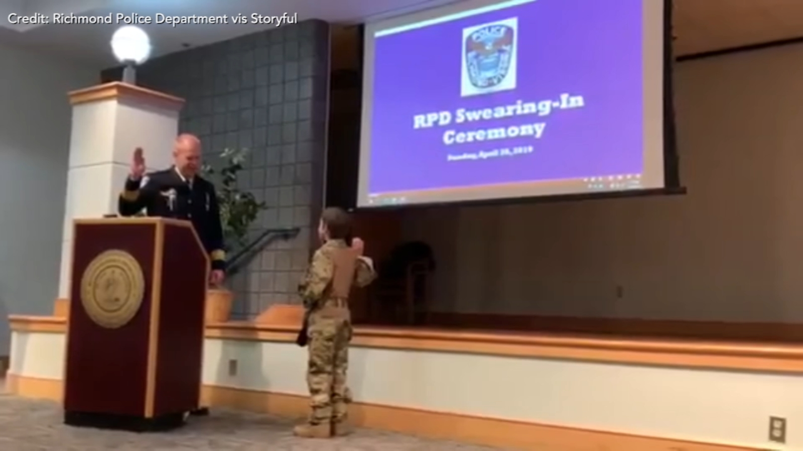 9-year-old sworn in as member of Richmond, Virginia SWAT team for a day