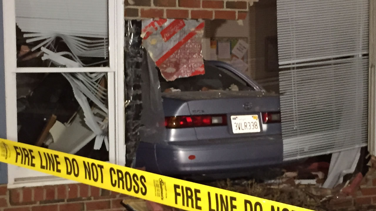 Car into Cary office building