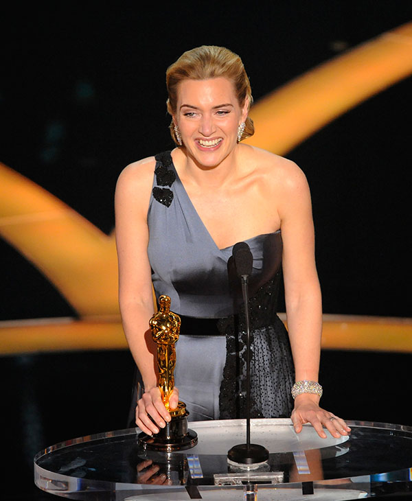 <div class='meta'><div class='origin-logo' data-origin='AP'></div><span class='caption-text' data-credit=''>British actress Kate Winslet accepts the Oscar for best actress for her work in &#34;The Reader&#34; during the 81st Academy Awards Sunday, Feb. 22, 2009, in Hollywood.</span></div>