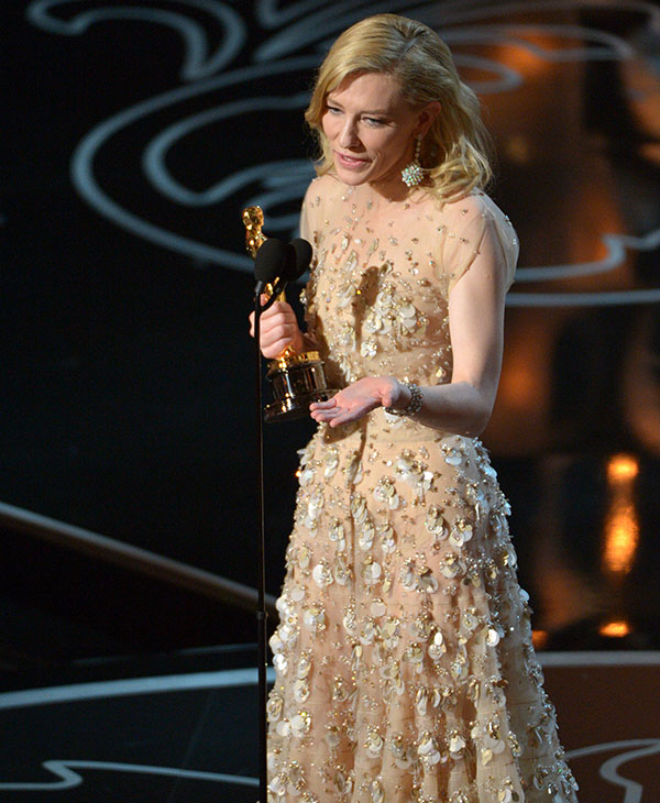 <div class='meta'><div class='origin-logo' data-origin='AP'></div><span class='caption-text' data-credit=''>Cate Blanchett accepts the award for best actress in a leading role for &#34;Blue Jasmine&#34; during the Oscars at the Dolby Theatre on Sunday, March 2, 2014, in Los Angeles.</span></div>