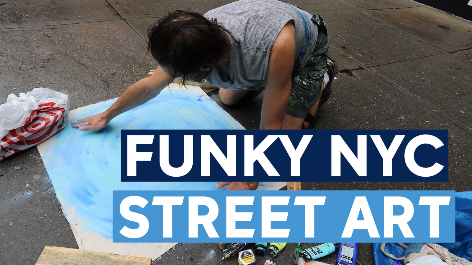 Paul Carluccio the 'Manhole impressionist' paints incredible street art all over NYC streets